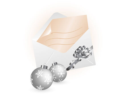 Letter with christmas balls - vector illustration Stock Vector - 5719714