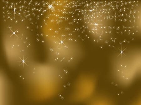 Christmas background with stars - vector illustration Stock Vector - 5773853