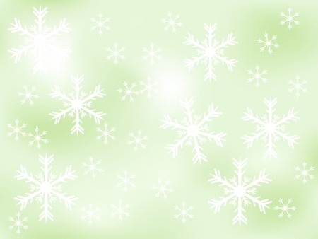 luminary: Christmas background with snowflakes - vector illustration
