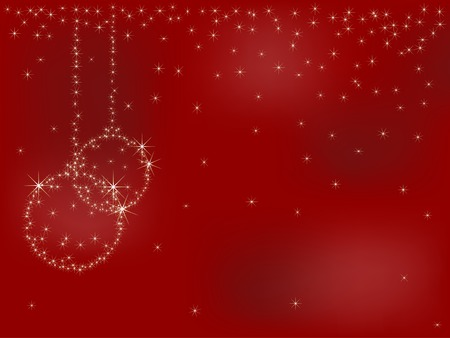 Christmas background with stars - vector illustration Stock Vector - 5773852