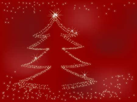 Christmas background with stars - vector illustration Illustration