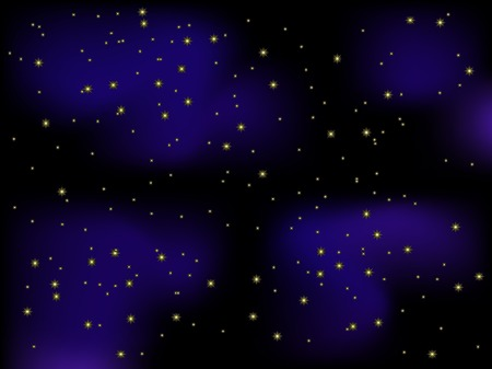 Christmas background with stars - vector illustration Stock Vector - 5773856