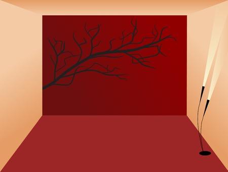 fantasize: Rojo y el interior de color naranja - ilustraci�n vectorial