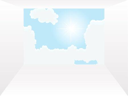 fantasize: T�nel hacia el cielo - ilustraci�n vectorial Vectores