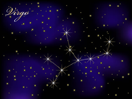 Sky background with stars - vector illustration Stock Vector - 5773869