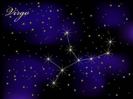 Sky background with stars - vector illustration Illustration