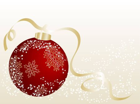 Abstract christmas background with red ball