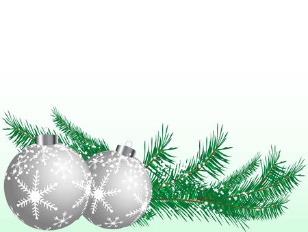 Abstract christmas background with balls Vector