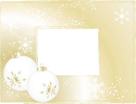 Abstract christmas background with balls Stock Vector - 5831291