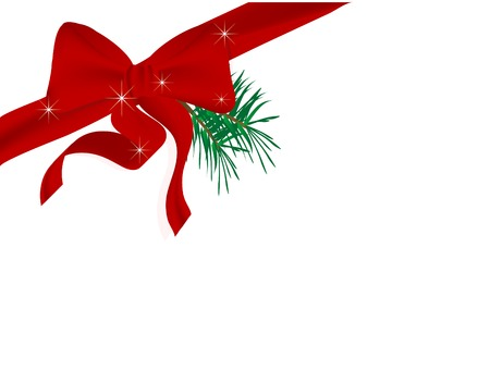 Abstract christmas background with bow Stock Vector - 5831290