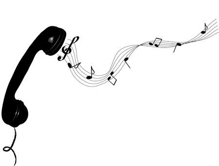 fantasize: Auricular del tel�fono con las notas