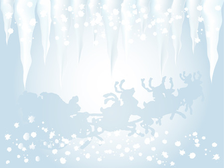luminary: Abstract winter background with santa Illustration