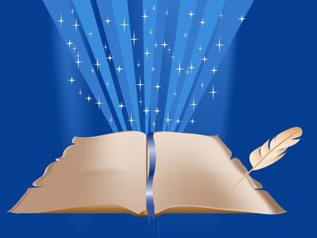 fantasia: Abstract magic background with book
