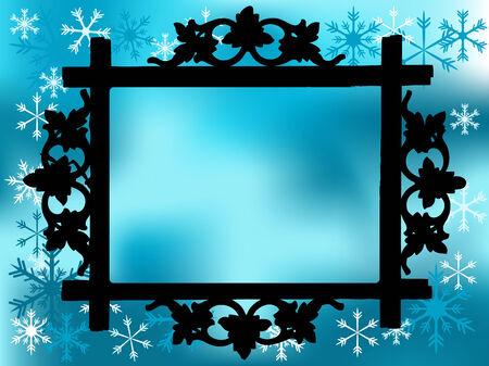 fantasia: Photo frame with christmas background