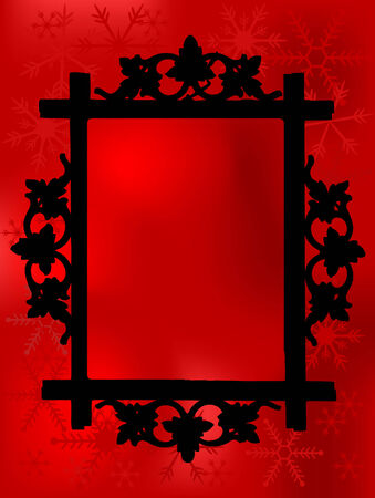Photo frame with christmas background Stock Vector - 5859247