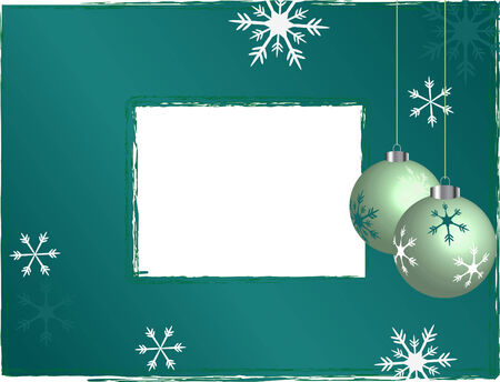 Photo frame with christmas background