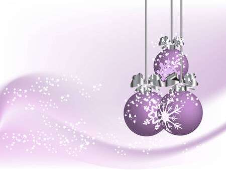 Violet christmas background with balls Vector