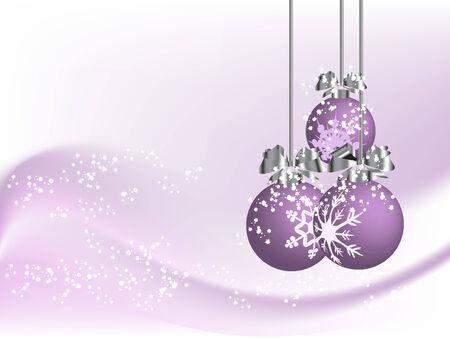fantasize: Violeta de fondo de Navidad, con bolas