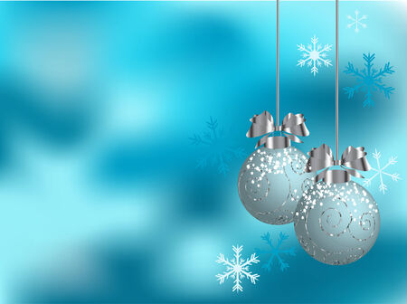 Vector christmas background with balls Stock Vector - 5887722