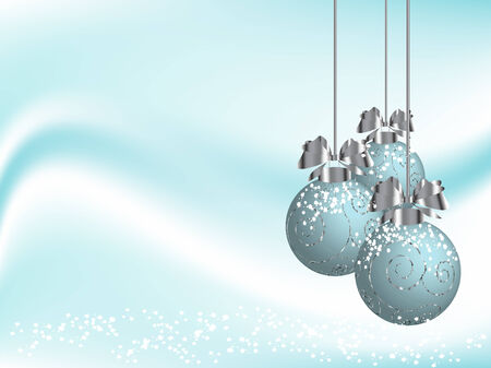 fantasia: Vector christmas background with balls