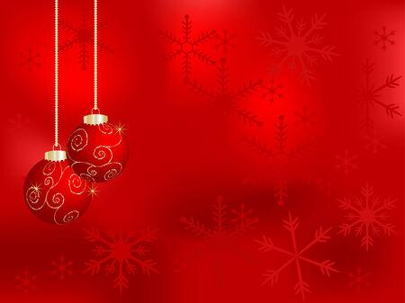 fantasize: Fondo de Navidad con bolas de vectores  Vectores