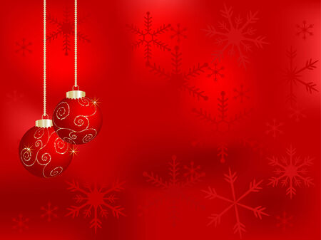luminary: Vector christmas background with balls