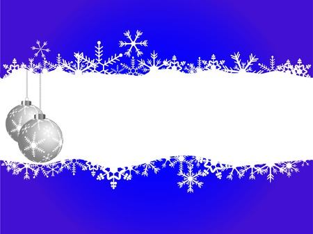 Vector christmas background with balls Stock Vector - 5897733