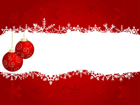 Vector christmas background with balls Stock Vector - 5897735