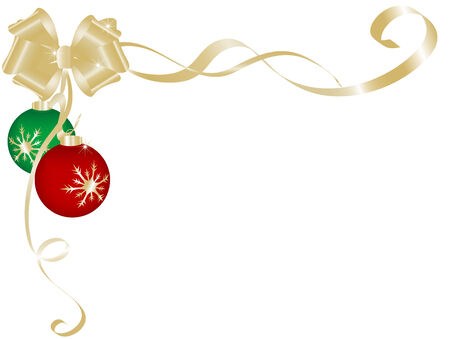 Vector christmas background with balls Stock Vector - 5897740