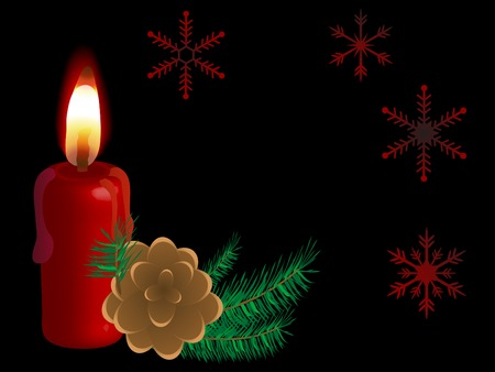 luminary: Vector christmas background with candle Illustration