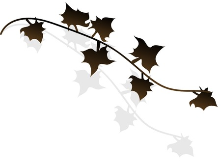 Black autumn leaves - vector illustration Stock Vector - 5957204