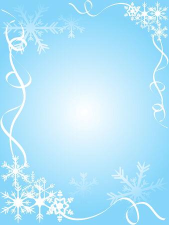 Blue christmas frame - vector illustration