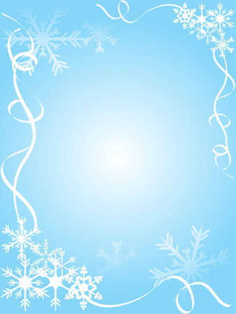 Blue christmas frame - vector illustration Vector