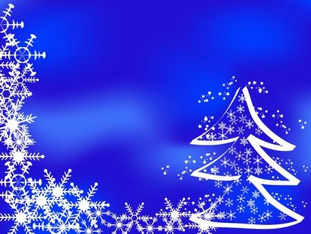 Blue christmas background - vector illustration Vector
