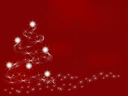Red christmas background - vector illustration Stock Vector - 5957275