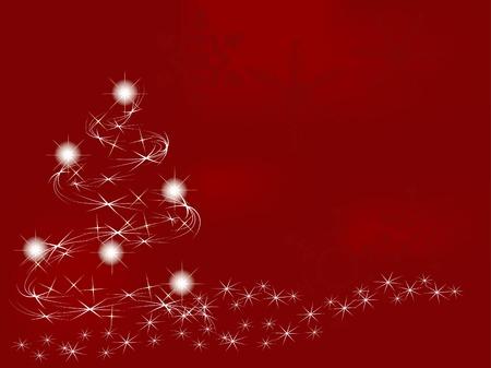 Red christmas background - vector illustration Illustration
