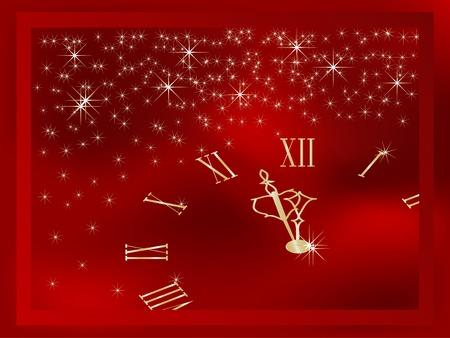 horas: Red de marco de Navidad