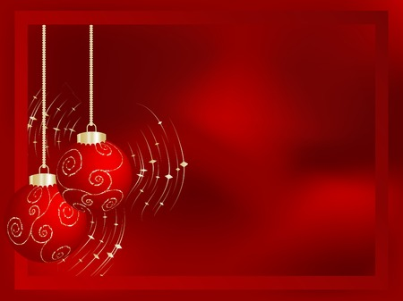 Red christmas frame Vector