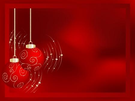 Red christmas frame Stock Vector - 5973797