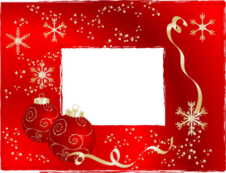 Red christmas frame - illustration Vector