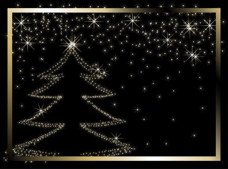 Black christmas frame - illustration Stock Vector - 5989523