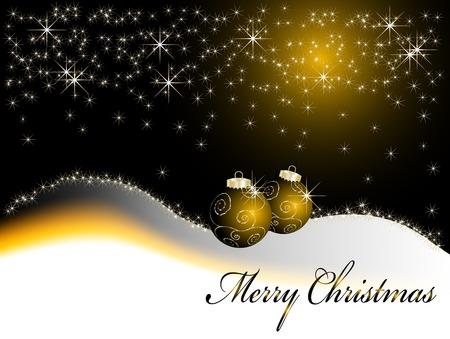 Black and gold christmas frame - illustration Vector