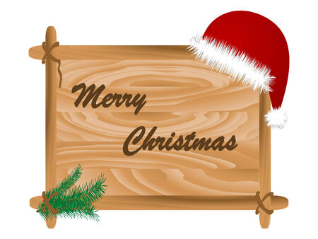 Christmas frame with hat - vector illustration Vector