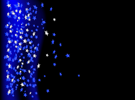 Blue stars on the black background Vector