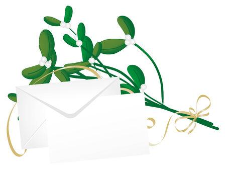 Christmas green mistletoe - vector illustration Stock Vector - 6109753