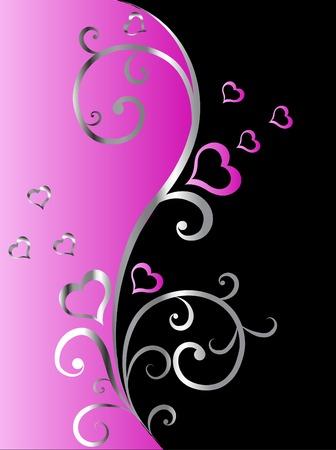 Valentine floral background - vector illustration