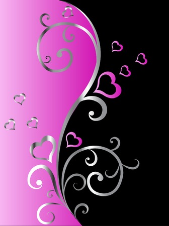 Valentine floral background - vector illustration Vector