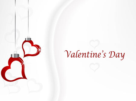 Valentine background with hearts illustration Stock Vector - 6308236