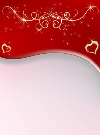 Red abstract background - vector illustration Vector