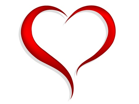 Abstract red heart - vector illustration
